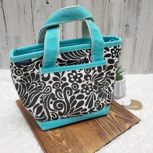 Lands' End Bags - Lands End Turquoise and Black Lunch Tote